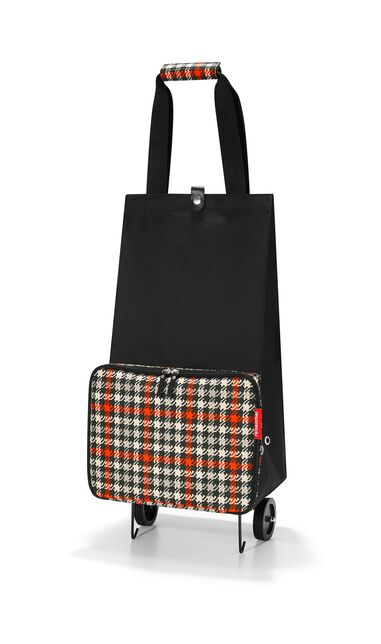 Reisenthel foldabletrolley Boodschappentrolley - Opvouwbaar - Polyester - 30L  - Glencheck Red Rood; Zwart; Zand
