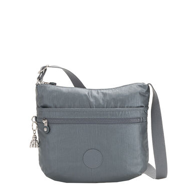 Kipling Arto BP Schoudertas steel grey metal