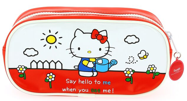 Blueprint Collections etui Hello Kitty 21 x 5 x 10 cm rood/wit