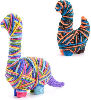 Toyrific knutselset Yarn Animals Dinosaurus junior 25-delig
