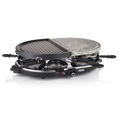 PRINCESS 162710 RACLETTE 8 OVAL & GRILL