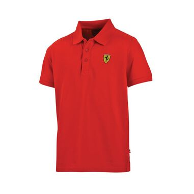 Scuderia Ferrari Kids Classic Polo Red-152