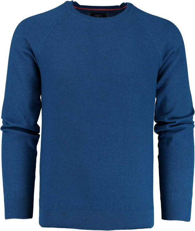 Born with Appetite Appetite ben r-neck pullover fancy kni 19105be11/247 blauw
