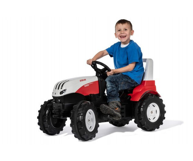 Rolly Toys traptractor Steyr rood/zwart 146 x 52,5 x 77 cm
