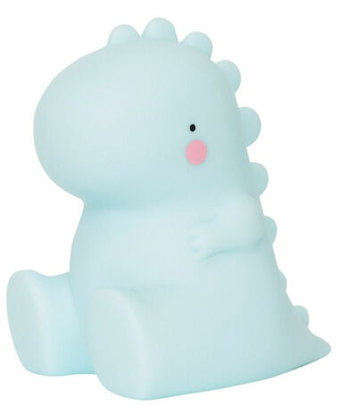 A Little Lovely Company nachtlamp T-Rex junior 12,5 cm PVC blauw
