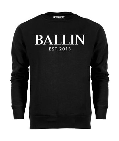 Ballin Est. 2013 Heren Sweaters Basic Sweater Zwart