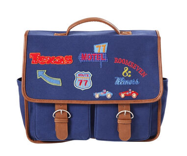 Oilily Schoolbag with flap badges- blauw  Blauw