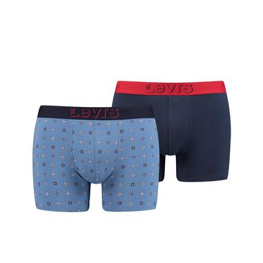 Levi' 2-pack boxerhort mini icon print - blauw