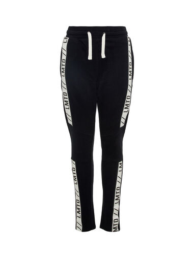 Name it Sweatbroek zwart logo - trekkoord