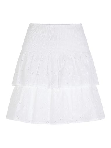 Pieces Rok met laagjes Broidery anglaise