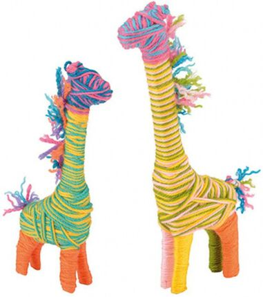 Toyrific knutselset Yarn Animals Giraffe junior 27-delig