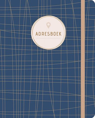 Paperstore: adresboek Dark Blue