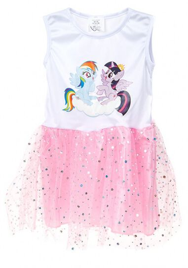 tutu-jurk My Little Pony meisjes wit/roze one size
