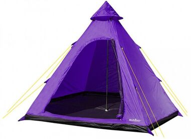 tent Hydrahalt 4-persoons 275 x 300 x 205 cm paars