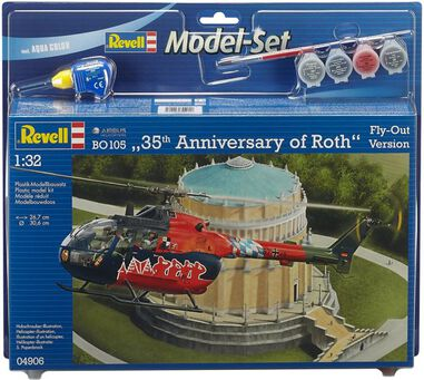 Revell BO 105 35th Anniversary of Roth Fly-Out Version 1:32 Montagekit Hefschroefvliegtuig