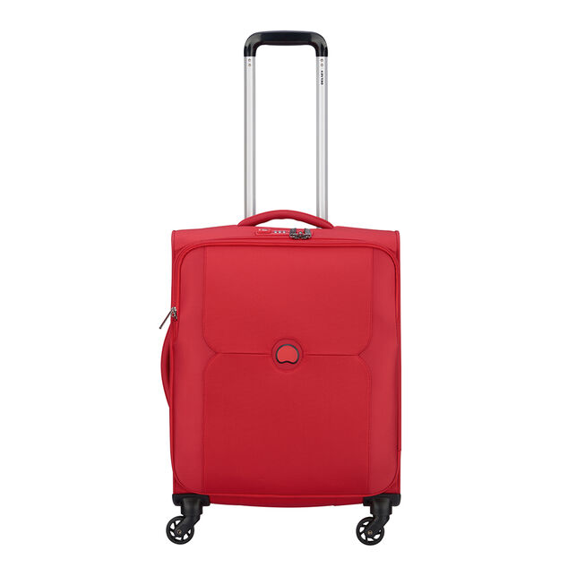 Delsey Mercure 4 Wheel Slim Cabin Trolley red