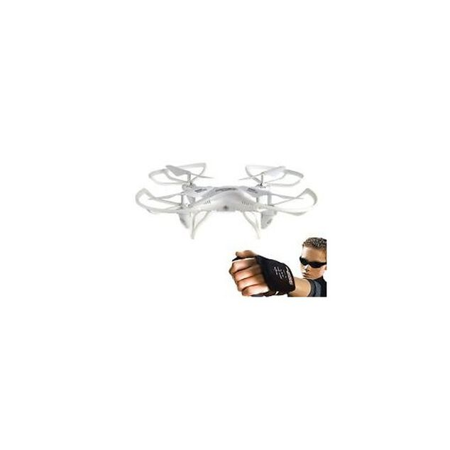 Force Flyers Explorer drone met remote-handschoen wit 32 cm