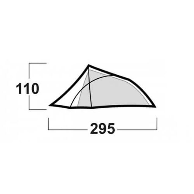 Husky Flame 2 Extreme - lichtgewicht tent - 2 persoons - Groen