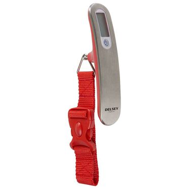 Delsey Travel Necessities digital Luggage Scale red