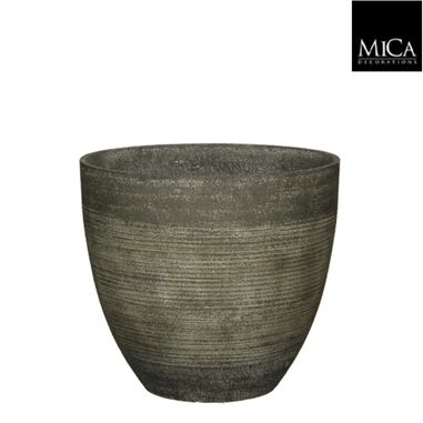 Bloempot Echo pot rond donkergroen h33xd37 cm Mica Decorations