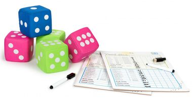 BS Toys dobbelspel Yard Dice 9-delig multicolor