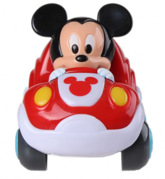 Clementoni Disney Baby Mickey Mouse pull-back auto rood
