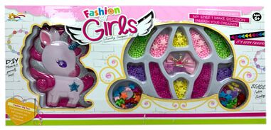 LG-Imports kralenset 'Fashion Girls' eenhoorn multicolor