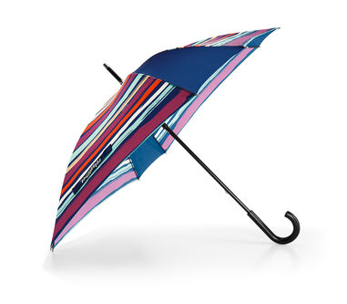 Reisenthel Umbrella - Paraplu - Windresistent - Polyester / hout - Artist Stripes Blauw