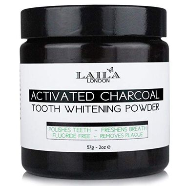 Laila London 100% Natural Activated Charcoal Toothpowder 60g. Zonder Fluoride