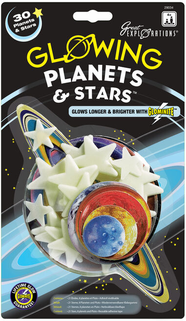 Glow in the Dark sterren: Planets & Stars