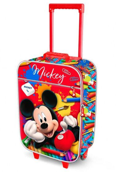 trolley Mickey Mouse 30 liter rood