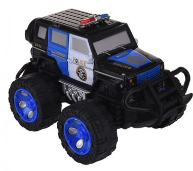 Free and Easy politie monstertruck zwart F 12 cm