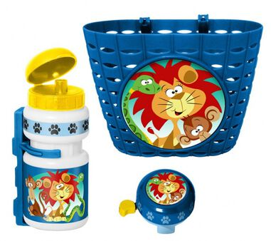 accessoiresset Jungle Animals blauw 3-delig