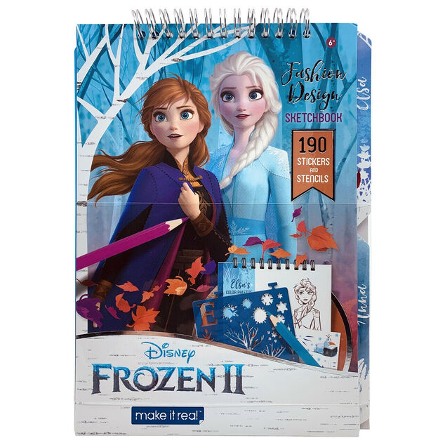 Make It Real schetsblok Frozen II junior papier blauw