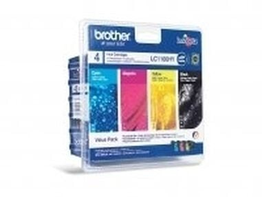 Brother LC-1100HYVALBP Zwart, Cyaan, Geel inktcartridge
