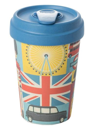 Chic.Mic drinkbeker BambooCUP* To Go London 400 ml