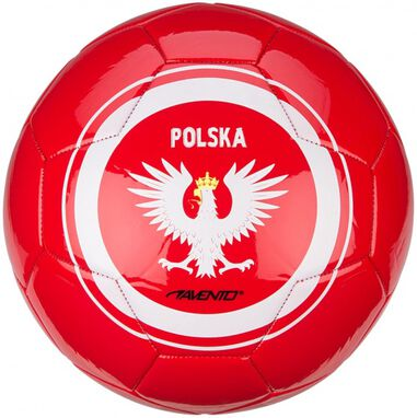 voetbal World Soccer Poland maat 5 rood