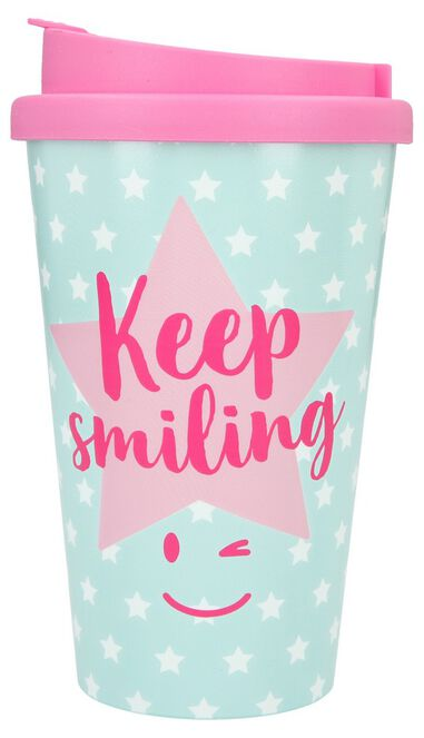 Depesche Drinkbeker To-Go Keep Smiling