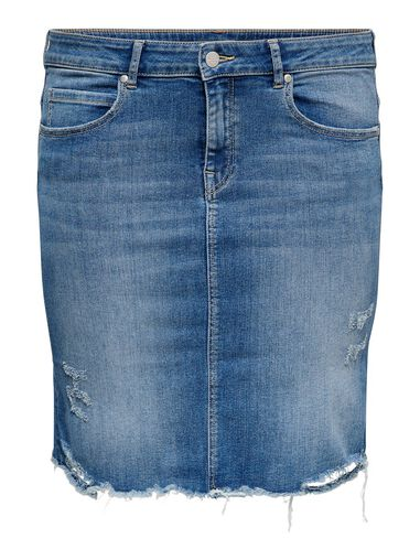 CARMAKOMA Denim rok Curvy destroyed