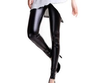 Lederlook legging - glans