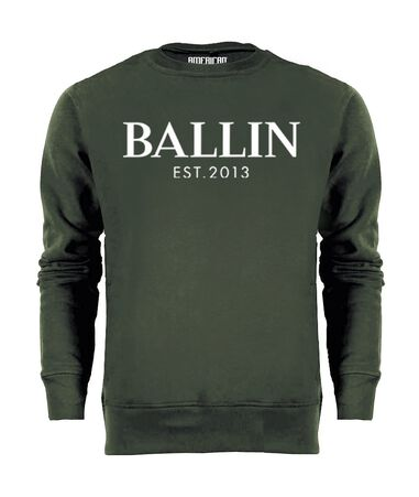 Ballin Est. 2013 Heren Sweaters Basic Sweater Groen