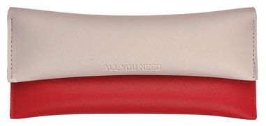 Moses etui All you need 20,5 cm beige/rood