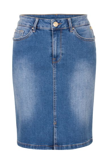 Miss Etam Dames Etam Regulier - Rok uni DENIM SPLIT SKIRT