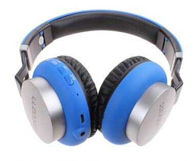 Boom koptelefoon on ear wireless Bluetooth blauw