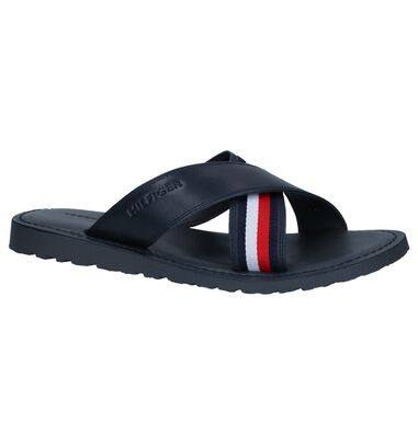 Donkerblauwe Slippers Tommy Hilfiger Criss Cross