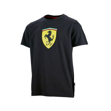 Scuderia Ferrari Kids Scudetto T-Shirt Black-152