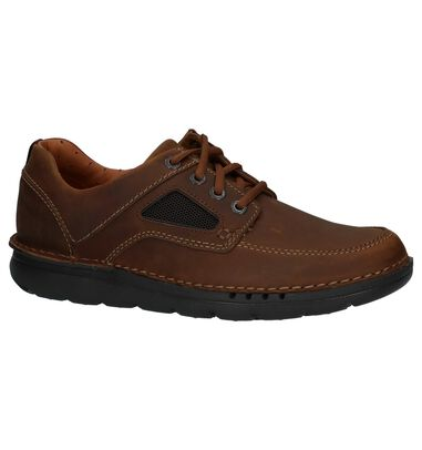 Clarks Unnature Time Cognac Casual Schoenen