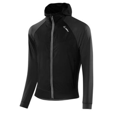 Loeffler jas Mountain Sports Light Hybrid met capuchon - Zwart