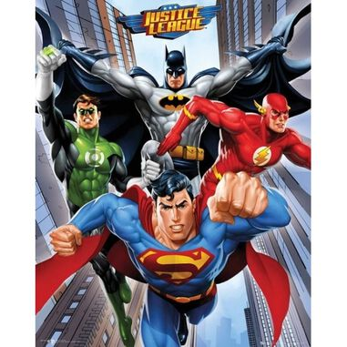 Poster DC Comics superhelden Mini 40 x 50 cm