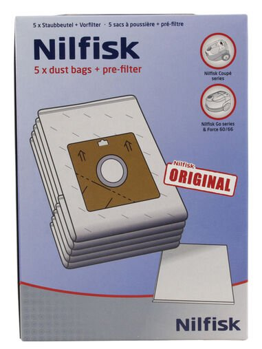 NILFISK DUSTBAGS COUPE/GO/ONE/COMPACT